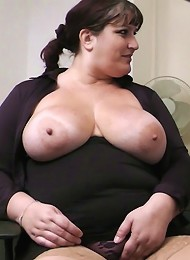 Gorgeous young fattie got her rack and pussy fucked in office by her own future boss