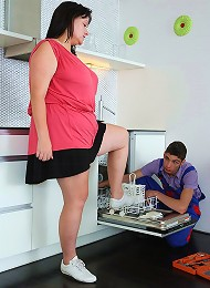 The simple seduction turns him on and the BBW babe wants to feel him inside her