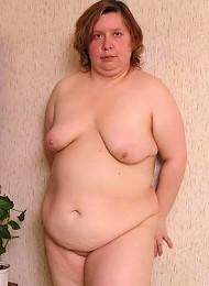 Mature plumper showing her big ass