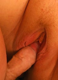 Fat blonde granny takes huge cock down her hole