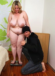 The incredible BBW chick gets a great hardcore fucking from the burglar in her house