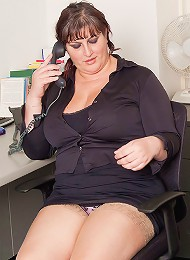 Sexy young BBW fucks her boss